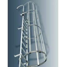 Rögzített létra egyrészes kivitel DIN 18799-1, Alumínium, építménymagasság: 7,28 M