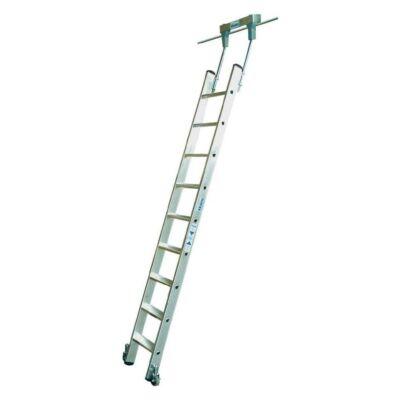 Krause Stabilo Lépcsőfokos Polclétra T-Vezetősínnel 7 Fokos