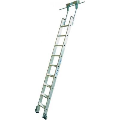 Krause Stabilo Lépcsőfokos Polclétra Cső Vezetősínnel 9 Fokos